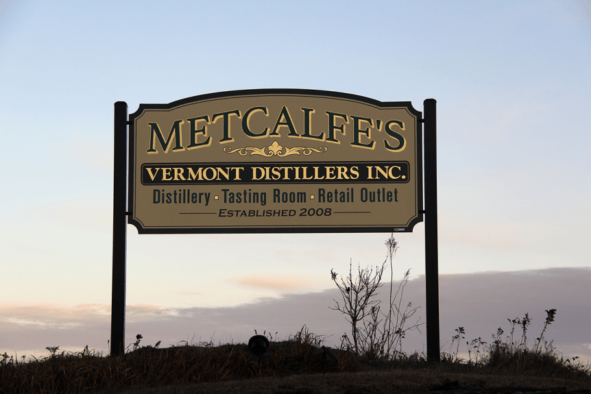 Image of sign for Vermont Distillers