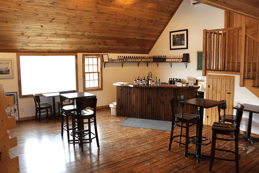 Image of the tasting room at Vermont Distillers