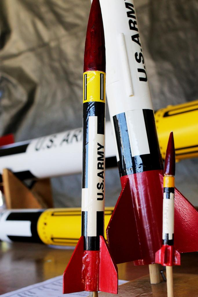 Cole Wangsness — The Vermont Cynic: Model rockets on display at the fair.