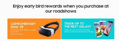 Samsung Galaxy S7 Edge Roadshow Promotion