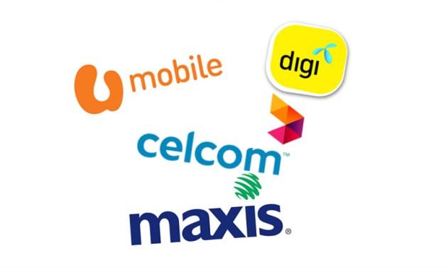 Digi UMobile Celcom Maxis