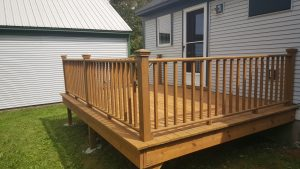 A deck that was washed and sealed by Vermont Home Wash in Middlebury, VT