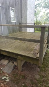 This deck in Shelburne, VT will be power washed by Vermont Home Wash