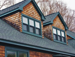 This cedar-sided home in Burlington, VT was power washed by Vermont Home Wash in 2018