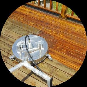 Power washer surface washer on deck wash in Burlington, VT