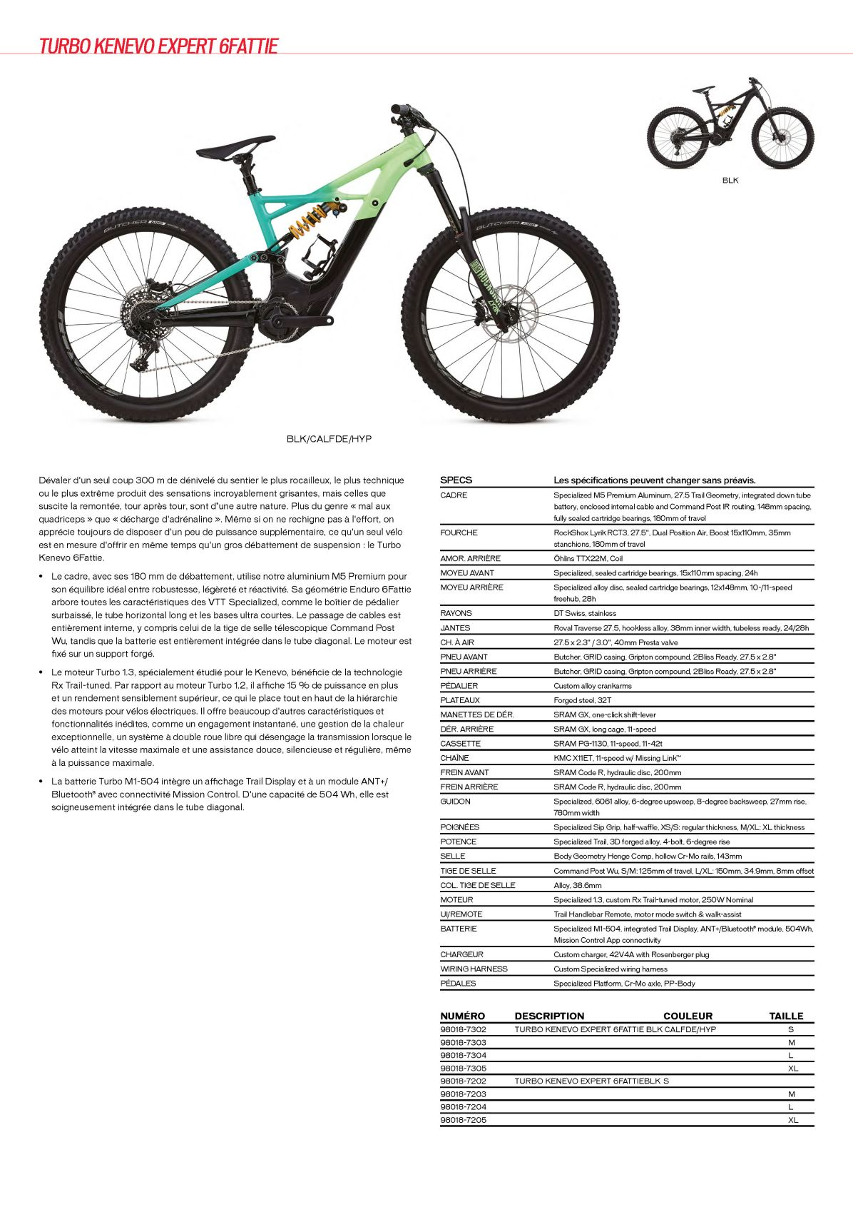 vttae specialized tubo kenevo enduro 180mm