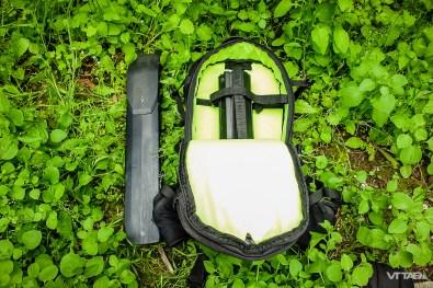 Bosh Innertube (dans le sac) et batterie Specialized (à l'extérieur)