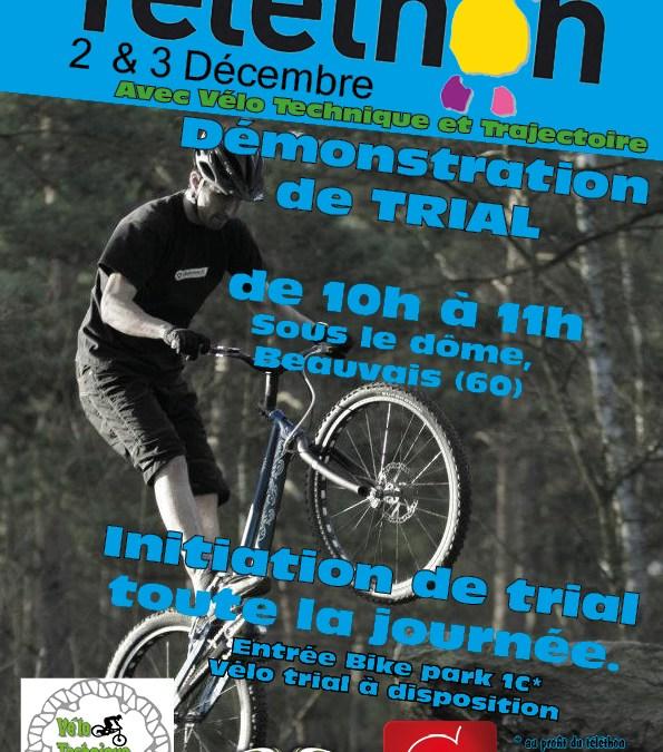 Démonstration Trial Téléthon de Beauvais 2016
