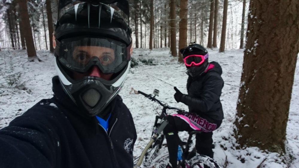 Ride sous la neige en Picardie !! -VTT COACH