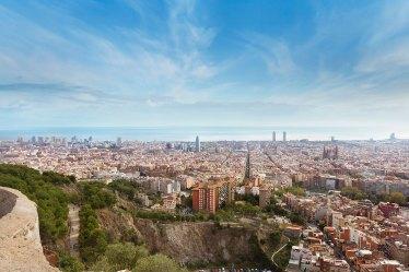 Barcelona desde el Turó de la Rovira. Imagen: ©depositphotos.com/OSORIOartist