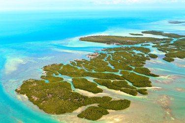 Vista aérea de los Cayos de Florida