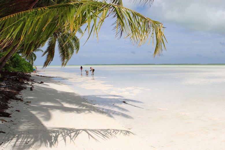 Laguna tropical en Kiribati