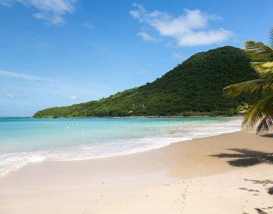 Magnífica playa en anse marcel en San martin