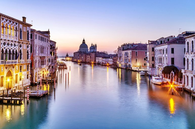 Santa Maria della Salute , Venecia.