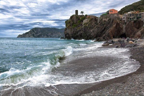 La playa de Vernazza, Cinque Terre