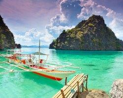 Embarcadero en Lago Kayangan, Filipinas Foto: ©depositphotos/GoodOlga