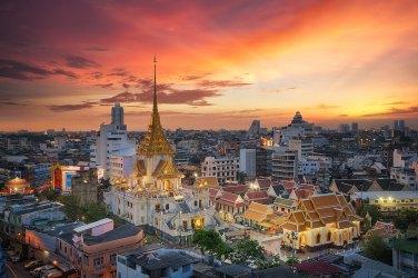 Wat Trimit z Barrio Chino. Bangkok.