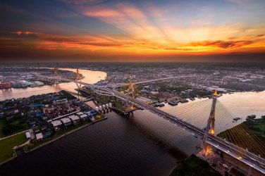 Puente de Bhumibol, Bangkok.