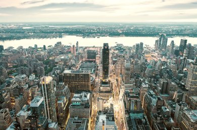 Vista aérea de Manhattan, Nueva York