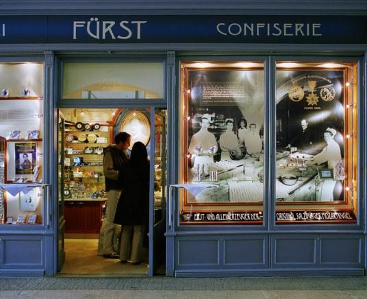Café Pasteleria Fürst / Cafe Konditorei Fürst, en Ritzerbogen, Sigmund Haffner Gasse - 5020 Salzburgo