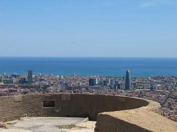 Vista de Barcelona desde el Bunker del Carmel.