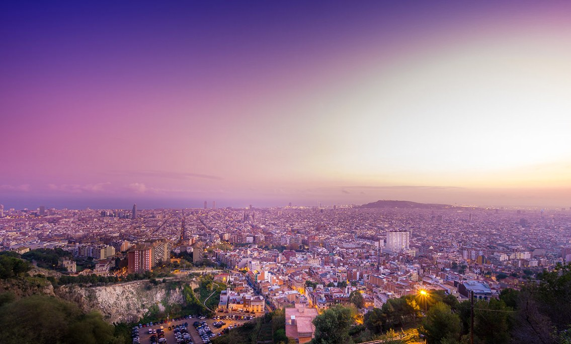 Vista de Barcelona desde el Bunker del Carmel, Turó de la Rovira, Barcelona