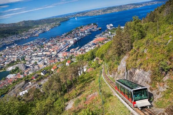 El funicular Fløibanen