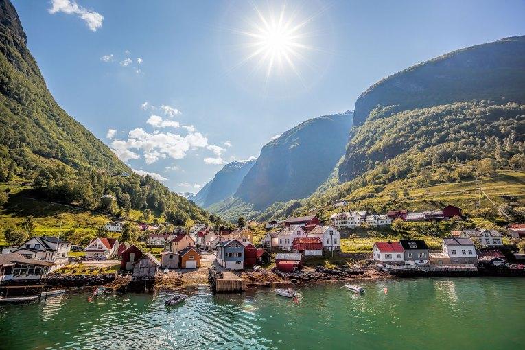 Pueblo de Pescadores, acerca de Flam, Noruega