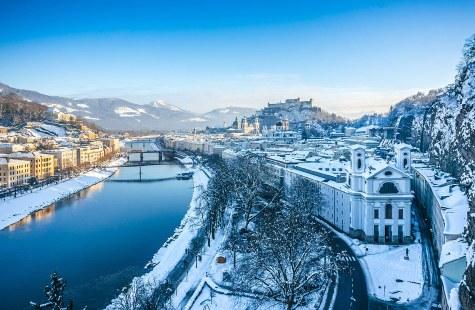 Vista del Castillo de Hohensalzburg, Salzburgo.
