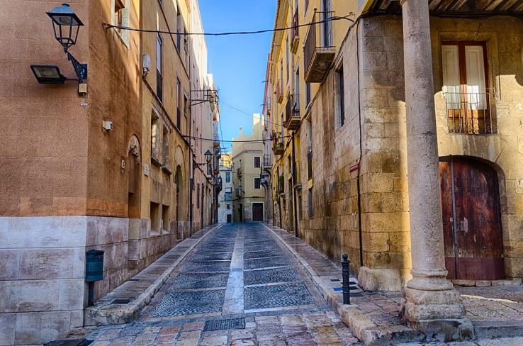 Calle céntrica en Tarragona