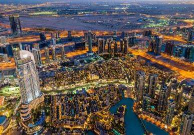 Vista de Dubai desde el mirador más alto del planeta