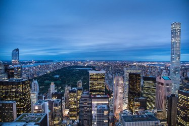Vista de Nueva York y Central Park desde el Top of the Rock, Rockfeller Center.