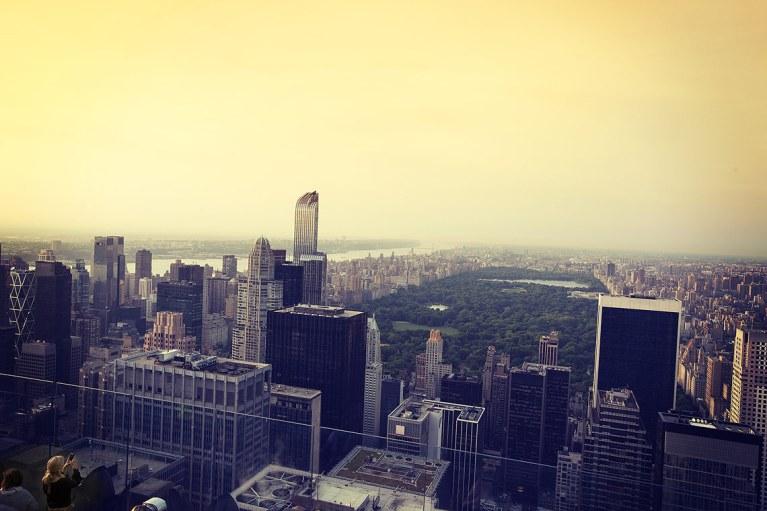 Vista de Nueva York y Central Park desde el Top of the Rock, Rockfeller Center.