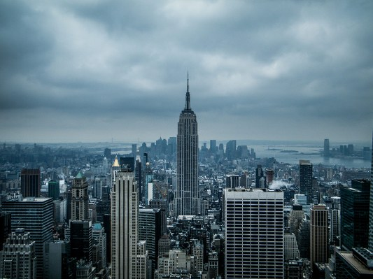 Vista de Nueva York y Empire State Building desde el Top of the Rock, Rockfeller Center.