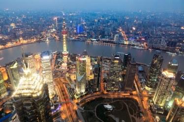 Vista desde el Shanghai World Financial Center