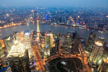 Vista desde el Shanghai World Financial Center