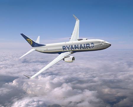 Ryanair en vuelo