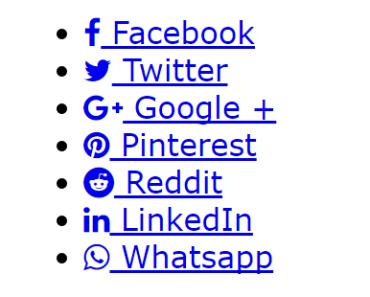 Basic Vue.js Social Share Component