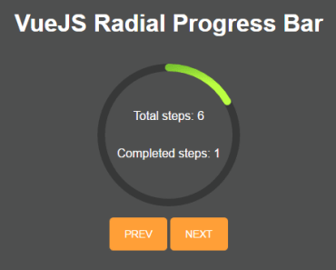 Radial Progressbar Component For Vue JS
