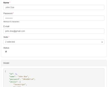 Schema-based Form Generator For Vue.js