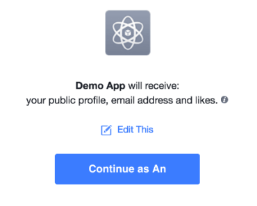 Facebook Sign-in Button For Vue.js
