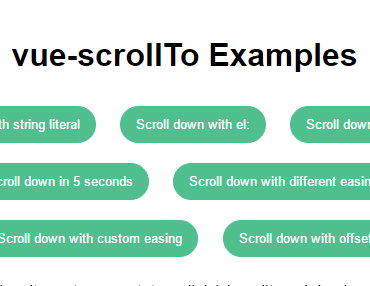 Pure VueJS Scroll To Component