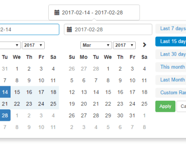 Vue Date Range Picker Component