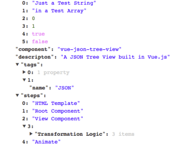Vue JSON Tree View