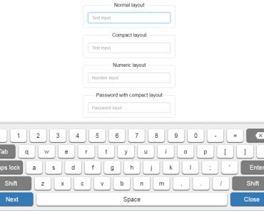 Virtual Keyboard Component For Vue.js