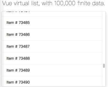 Vue Virtual Scroll List