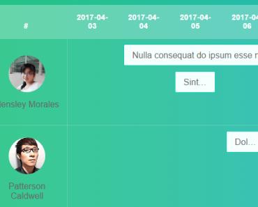 Simple Gantt Chart Plugin For VueJS 2+