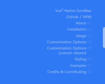 Vue 2 Native Scrollbar Component