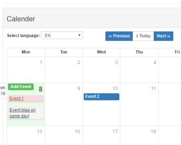 Vue Bootstrap Calendar Component