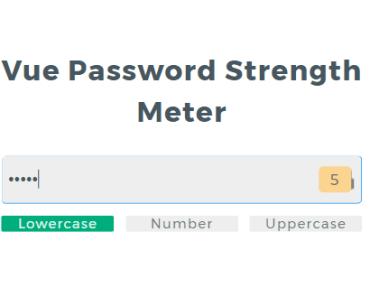 Vue Password Strength Meter